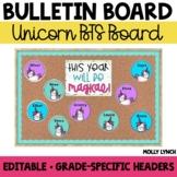 Unicorn Back to School Display {Editable}