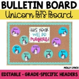 Unicorn Back to School Display {Editable}