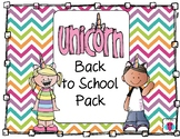 Unicorn Back to School Pack
