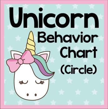 Unicorn Behavior Chart - Circle Shaped
