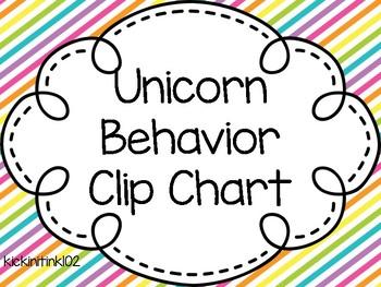 Unicorn Behavior Clip Chart