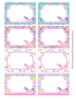 unicorn bin labels classroom decor by pink posy paperie tpt. Black Bedroom Furniture Sets. Home Design Ideas