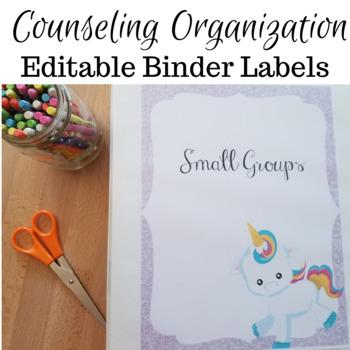 Unicorn Binder Labels (editable)