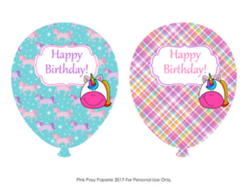 Unicorn Birthday Balloons