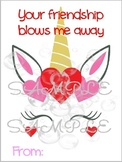 Unicorn Blowing Bubbles Friendship Valentine Card