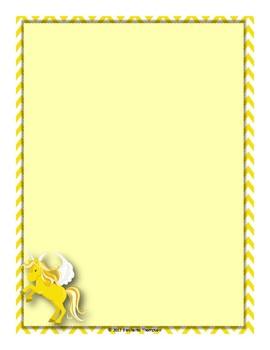 Unicorn Borders and Letters  (Classroom Decor)