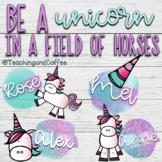 Unicorn Bulletin Board (EDITABLE!)