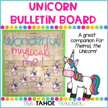 Unicorn Bulletin Board | With Writing Prompt