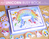Unicorn Busy Book Printable | Toddler Busy Binder Activities File Folder Games