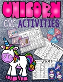 Unicorn CVC Spelling Words Work