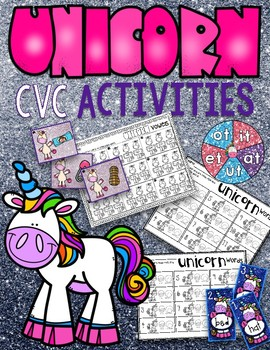 Unicorn CVC Word Work