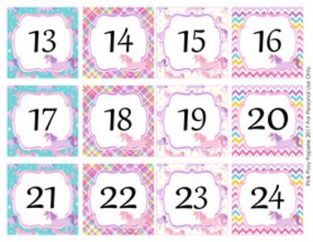 Unicorn Calendar Numbers