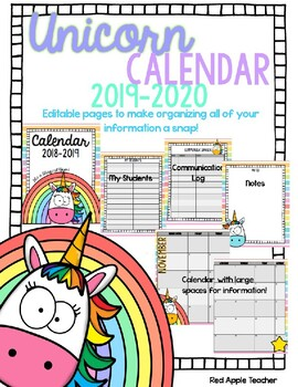Monthly Calendar 2018 2019 Apple Teaching Resources Teachers Pay