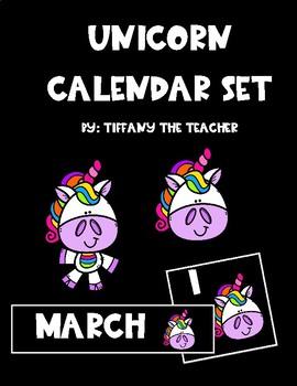 Unicorn Calendar Set