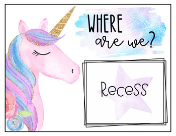 Unicorn Classroom Décor {English Version}