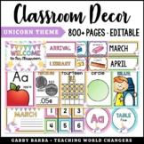 Unicorn Classroom Decor