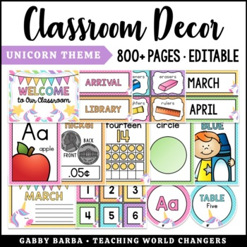 Unicorn Classroom Decor