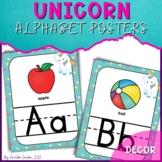 Unicorn Classroom Theme - Alphabet Posters