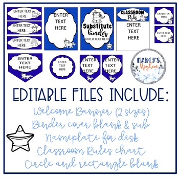 Unicorn Classroom Decor with Editable files