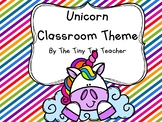 Unicorn Classroom Theme