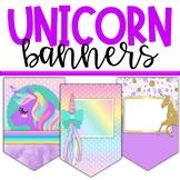 Unicorn Classroom Theme Decor - Banners