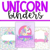 Unicorn Classroom Theme Decor - Binder Covers