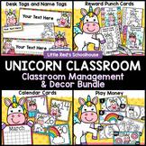 Unicorn Classroom Theme Decor Bundle