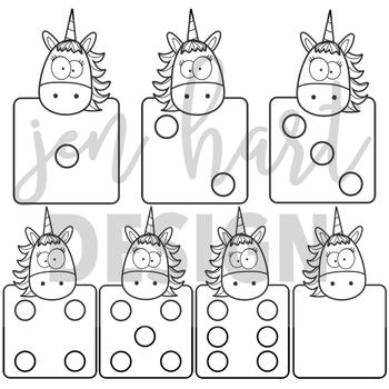 Unicorn Clip Art - Dice {jen hart Clip Art}