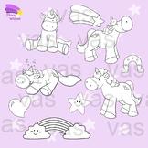 Unicorn Clip Art Line Art
