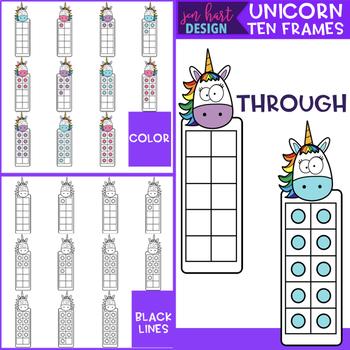 Unicorn Clip Art - Math Ten Frames {jen hart Clip Art}