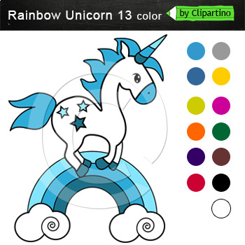 Unicorn Clip Art - Rainbow Unicorn