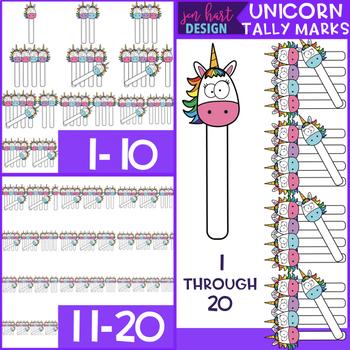 Unicorn Clip Art - Tally Marks 1-20 {jen hart Clip Art}
