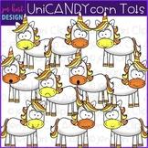 Unicorn Clip Art - Unicorn Candy Corn Tots clipart {jen ha
