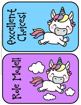 Unicorn Clip Chart {EDITABLE]