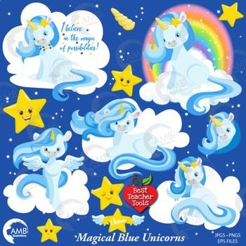 Unicorn Clipart, Magical Unicorn Clipart, {Best Teacher Tools} AMB-1383
