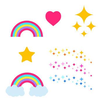 Unicorn Clipart Set, Cute Unicorn Clip Art, Rainbow Unicorn Graphics