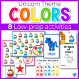 Unicorn Color Activities | Unicorn Color Sorting | Math Centers