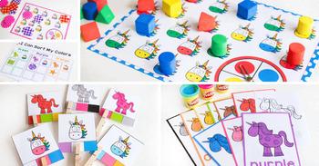 Unicorn Color Activities | Unicorn Color Sorting | Math Centers