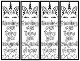 Unicorn Color-Your-Self Bookmarks