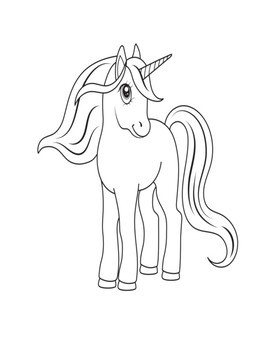 Unicorn Coloring Book For Kids Unicorn Coloring Pages For Kindergarten