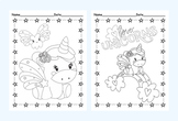 Unicorn Coloring Pages - 8 Designs