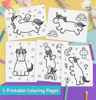 Unicorn Coloring Pages For Kids Printable Unicorn Coloring Book Pdf