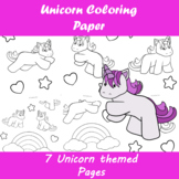 Unicorn Coloring Paper | Distance Learning