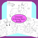 Unicorn Coloring Sheet Bundle
