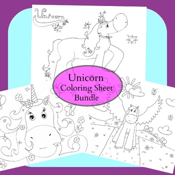 Unicorn Coloring Sheet Bundle