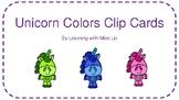 Unicorn Colors Clip Cards, 3 Levels