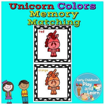 Unicorn Colors Memory Matching Game #dollardeals