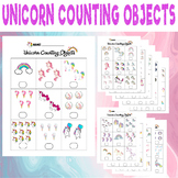 Unicorn Counting Objects 1-10 Worksheets Math Counting Obj