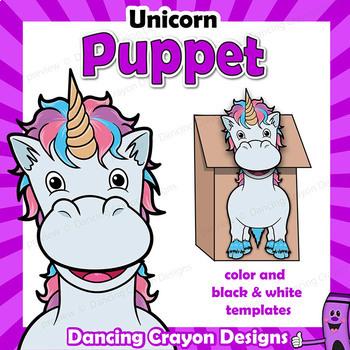 Unicorn Craft Activity | Paper Bag Puppet Template