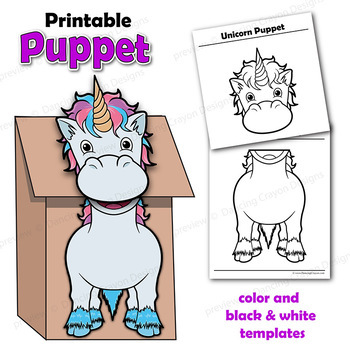 picture relating to Free Printable Paper Bag Puppet Templates identified as Unicorn Craft Game Paper Bag Puppet Template